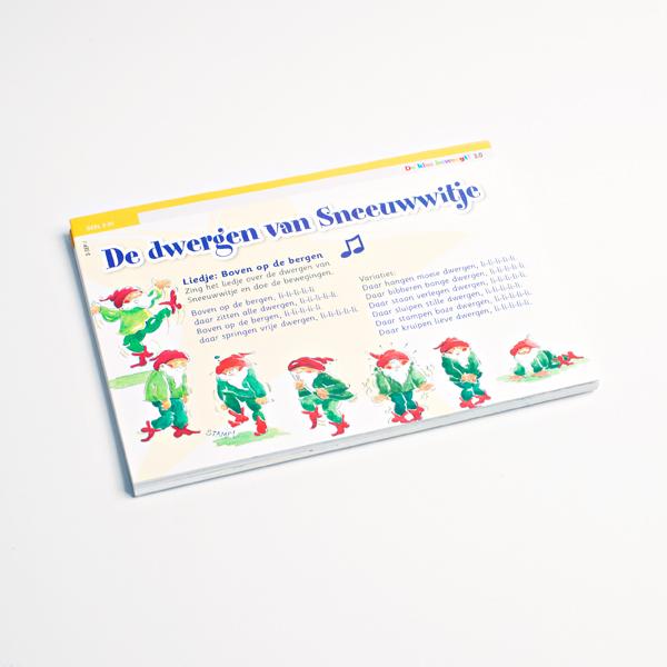 Beweegopdrachten Geel Groep 3 losse kaarten